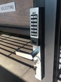 replacement key pad for business door in Scottsdale