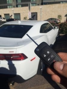 Replacement car key for 2014 Chevy Camaro